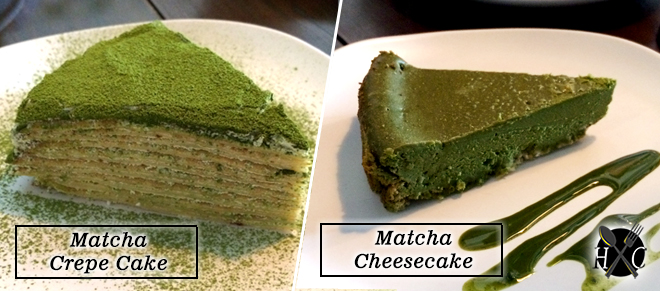 matcha-crepe-cake-and-cheesecake-at-skillet-bistro