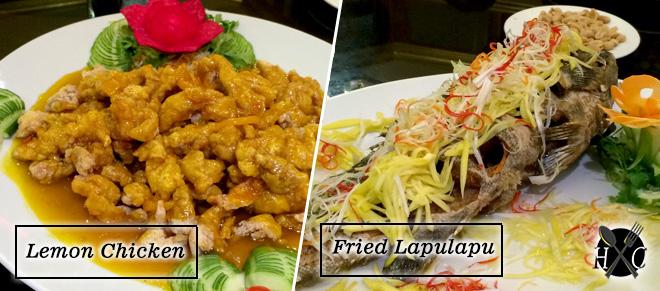 Lemon Chicken & Fried Lapulapu at A Taste of Mandarin Cebu