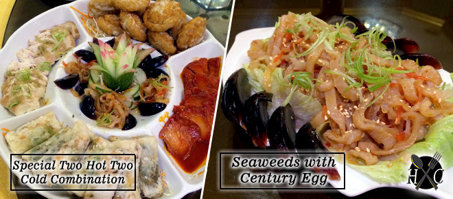 Special Two Hot Two Cold Combination & Seaweeds with Century Egg at A Taste of Mandarin Cebu