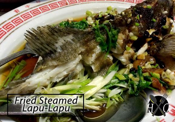 Fried Steamed Lapu-Lapu - New White Gold House Cebu